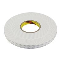 3M 白色双面强力泡棉胶带 汽车/家居通用 白色粘剂双面胶 20毫米*30米 单卷装