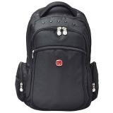 瑞士军刀威戈Wenger双肩包 商务笔记本电脑包14英寸双肩背包男女书包 黑色S859109045