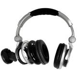 得胜(TAKSTAR)HD-3000头戴式监听耳机电脑录音翻唱网络K歌音乐制作监听银黑色