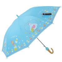 天堂伞 欢乐童年高密碰击布儿童直杆晴雨伞 鸡宝宝蓝色 13007E
