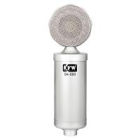 凯浮蛙(KFW) SK-500 录音电容麦克风话筒 电脑录音翻唱网络K歌YY UC 聊天 银色