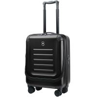 维氏VICTORINOX瑞士军刀箱包 斯派克2.0万向轮拉杆箱 双开口20吋登机箱行李箱哑光磨砂面密码箱31318001黑色