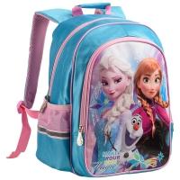 迪士尼(Disney)FP8018A 冰雪奇缘小学生书包女/质轻减负1-3年级粉蓝