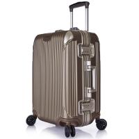 YOOTOO铝框拉杆箱智能报警防丢万向轮行李箱海关锁男女旅行箱20英寸香槟金ZK0001(可登机)