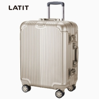 LATIT PC铝框旅行行李箱 拉杆箱  21英寸 万向轮 雾金色