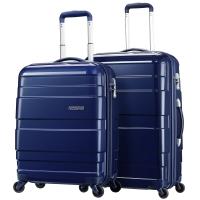 美旅AmericanTourister旅行箱拉杆箱家庭旅行三件套92Q*41004深蓝