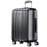 瑞动(SWISSMOBILITY)20英寸商务新时尚登机箱全新PC+ABS商务旅行箱MT-5058-82T00黑底银白编织纹