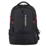 瑞士军刀威戈(Wenger)电脑包 防泼水男女时尚休闲笔记本电脑包15.6英寸大容量背包双肩背包 黑色S868309048