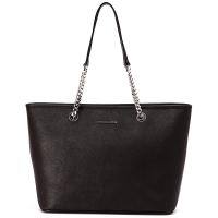 MICHAEL KORS 迈克·科尔斯 MK女包 JET SET TRAVL CHAIN系列黑色大号牛皮购物袋女士手提单肩包 30T6SJ8T6L BLACK
