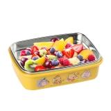 【韩国进口】迪士尼(Disney)维尼不锈钢儿童饭盒 真空方形儿童保温饭盒 保鲜儿童便当盒餐具350ml