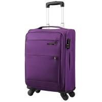 美旅AmericanTourister拉杆箱  经典简约商务防泼水万向轮密码锁登机行李箱 软箱20英寸大容量可扩展26B紫色