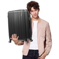 美旅AmericanTourister拉杆箱 男女商务静音飞机轮行李箱大容量可扩展 24英寸TSA海关锁旅行箱79B灰色