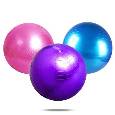 瑜伽球運動球(配打氣筒),JFF001Q紫