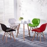 百思宜 洽谈桌餐桌北欧创意小圆桌现代简约咖啡厅餐饮店圆形桌子 三腿圆桌70cm白色(不含椅子)