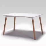 百思宜 现代简约餐桌北欧休闲长方形桌子小户型伊姆斯方桌咖啡厅简易桌子  白木纹长桌120*80