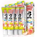 黑人(DARLIE)透心爽冰桃牙膏160g*4 清新口气防蛀固齿 (有助减少牙菌斑)(新老包装随机发货)