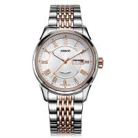 依波(EBOHR)手表 都市经典系列钨钢圈白面钢带机械情侣表男表10610510