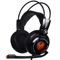 硕美科(SOMIC)G941 电竞游戏吃鸡耳机 电脑头戴式 降噪震动 USB7.1声效带麦 绝地求生耳机 黑色