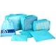 京唐 韩版防水旅行收纳 行李箱整理袋 6件套 送1个加厚收纳防尘鞋包 蓝色