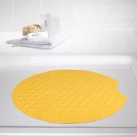 瑞德 RIDDER 圆形足底梦之城app客户端下载防滑垫 橡胶材质 直径55cm 黄色 68204