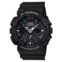 卡西欧(CASIO)手表 G-SHOCK YOUTH系列 男士防震运动手表 自动LED照明石英表 GA-120-1A