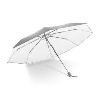 蕉下(BANANA UNDER)Black系列三折晴雨伞小黑伞防晒防紫外线遮阳伞 浅灰