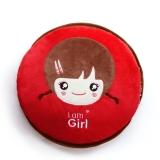 家博士(HOMEBOOS)JBS-N012 充电安全防爆热水袋 已注水暖手宝 双插手设计 红色 I am Girl