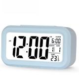 瑞达(REIDA ) 静音温度聪明钟学生夜光懒人贪睡 闹钟创意时尚电子床头钟RD212B蓝色