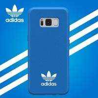adidas (阿迪达斯)三星S8手机壳 原装正品 三叶草时尚简约经典款 超薄侧全包硅胶软壳PU磨砂防滑保护套