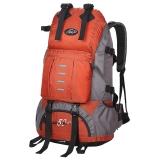 力开力朗 户外大容量双肩包登山包442桔色50L带防雨罩