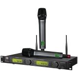 凯浮蛙(KFW) WK-U8700 无线麦克风U段话筒卡拉OK舞台演讲麦克风学校会议KTV一拖二话筒