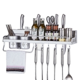 卡贝(Cobbe)29260-60 太空铝厨房置物架壁挂厨房挂件刀架 哑光双杯60CM