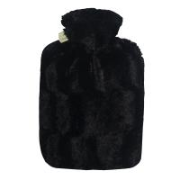 Hugo Frosch纯色长毛绒外套系列注水热水袋 PVC防爆暖手宝 亮黑0575