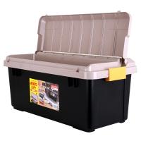 愛麗思(IRIS) 汽車收納箱儲物箱 RV800雙蓋 60升 PP樹脂材料 土黃/黑色