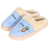 集暖棉拖鞋 男居家地板拖蓝色44-45码(适合42-43码)A00005