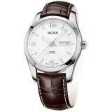 锐力(READ)手表 传奇系列全自动机械男表白面棕皮R8083GA