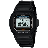 卡西欧(CASIO)手表 G-SHOCK 黑色经典系列 男士防震防水太阳能运动手表石英表 G-5600E-1