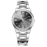 依波(EBOHR)手表 时代元素系列间钨钢黑面石英情侣表男表00585231
