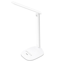 得力(deli)4324 可充电台灯/办公卧室床头灯 色温亮度可调 三档调节 白色