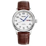 锐力(READ)手表 经典系列双日历石英男表白数皮R6003G