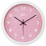 瑞达(REIDA)挂钟 创意时尚时钟超静音8英寸石英客厅卧室挂钟RD2330圆点粉