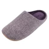 Homix 冷冻定型静音保暖家居棉拖鞋 紫色 36-38码