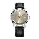 海鸥(SeaGull)手表 复古商务系列单历自动机械男表白盘黑带普版D51