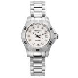 浪琴(LONGINES)手表康卡斯系列钢带钻石刻度石英女表L3.198.4.87.6