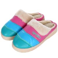 集暖棉拖鞋女居家地板拖孔雀蓝40-41码(适合38-39码)A00001