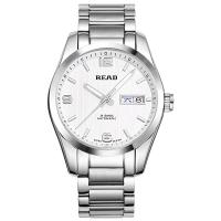 锐力(READ)手表 传奇系列全自动机械男表白钢R8083GA