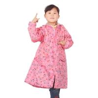 喵喵虎 防水儿童可爱型跳跳虎背囊式(带书包位)雨衣雨披 6610 粉色L码