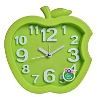 康时达(comsida) 闹钟 立体数字桌面时钟懒人烤漆创意座钟简约静音钟 C8977 绿色