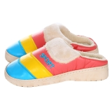 集暖棉拖鞋女居家地板拖湖蓝色36-37码(适合35-36码)A00001