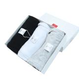 纤丝鸟TINSINO男士背心细针纯棉修身运动跨栏打底黑白灰3件装 XL